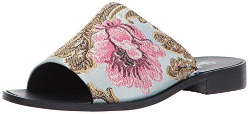 Shellys London Women's Enya Slide Sandal Blue Floral W99SCA1eo
