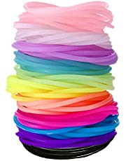 MoMaek 120 Pieces Silicone Jelly Bracelets Rainbow Glow Bracelets for Party Favors, Adults, Kids, Girls (12 Colors)