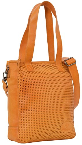 "Gusti Cuir studio ""Sunny M"" cabas en cuir sac bandoulière en cuir sac à main en cuir homme femme cuir de chèvre jaune 2H48-29-4"