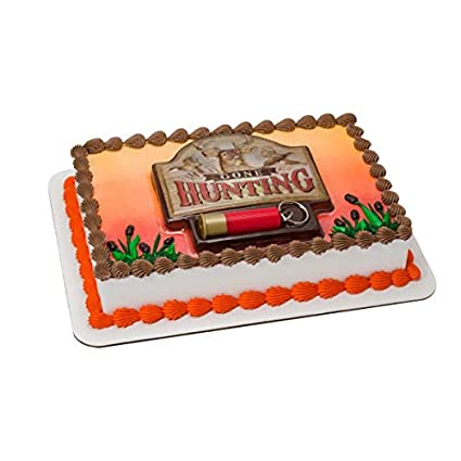 Excellent Deer Hunting Cake Topper Decoration Amazon Com Grocery Gourmet Personalised Birthday Cards Veneteletsinfo