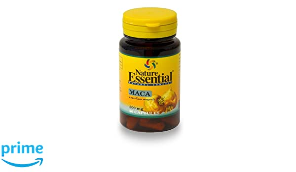 Maca 500 mg 50 cápsulas. Nature Essential (1): Amazon.es: Salud y cuidado personal