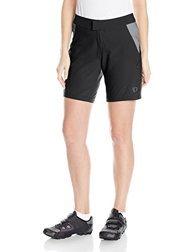 Pearl iZUMi Women's Canyon Shorts, Black/Monument Grey, Small (Womens Pearl Short Fly Izumi Apparel)