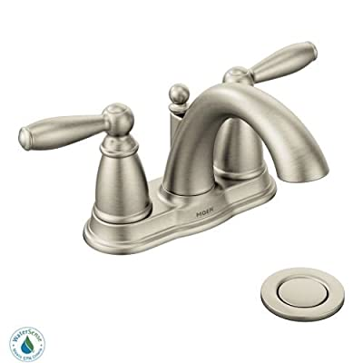 Moen 6610 Brantford Double Handle Centerset Bathroom Faucet - Pop-Up Drain Assem, by Moen