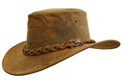 KakaduTraders Australia Leather Hat Nullabor, 2nd Choice - Kakadu Leather Hat