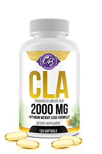 Optimum Dosage CLA 2000mg 120 Count Softgels Best Belly Fat Burner Weight Loss Pills Lose Weight Fast High Potency Pure Safflower Oil Conjugated Linoleic Acid CLA for Men and Women 1250 Sunflower 1000