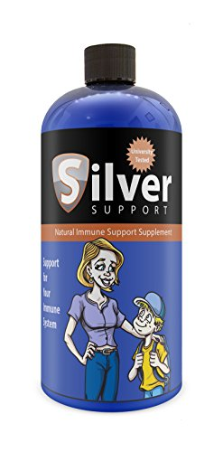 Nano Ionic Silver Technology (32 oz) with Cutting-Edge 10 ppm - Liquid Immune Booster for Kids, Pets & Adults Enhances Wellness - Next Generation Ionic Silver