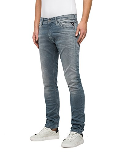 Jeans 9 Uomo light Skinny Jondrill Blu Blue Denim Replay RqnEf8w