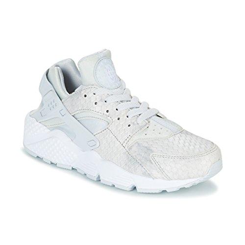 Grigio Wmns Run Huarache Premium Air Sneaker Tela Bassa Nike Donna AzgFWz