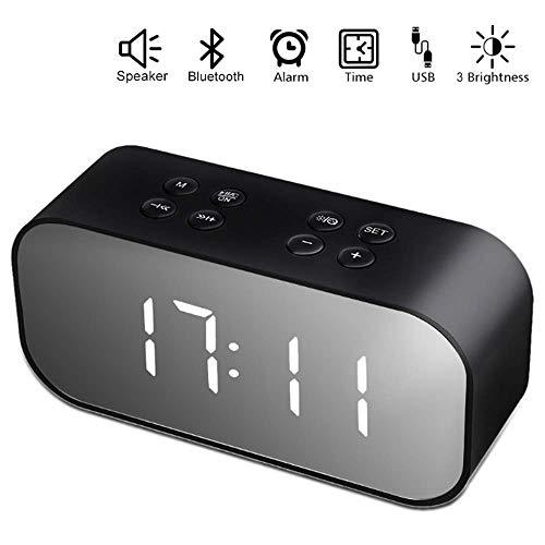 RabbitStorm Bocina Bluetooth, Estéreo Altavoz Inalámbrico Bluetooth 5.0 Portátil Micrófono Incorporado Reloj de Alarma,...