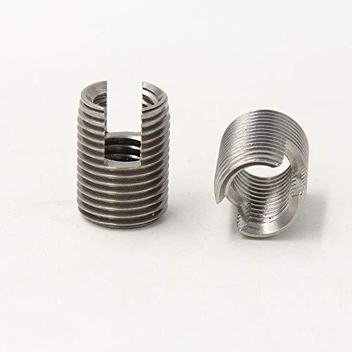 Ochoos 50pcs//Lot Stainless Steel M6X1.0 Self Tapping Thread Inserts 302 Slotted Type Insert Bushing Screws M61.012 L