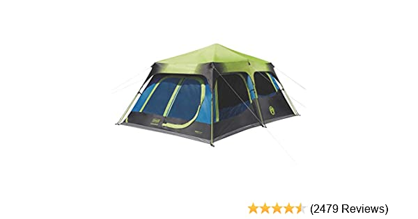 b5dac584156 Amazon.com   Coleman 10-Person Dark Room Instant Cabin Tent with Rainfly