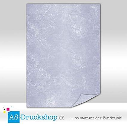 Azuro-blau Marmorpapier 25 Blatt DIN A4 90 g-Offsetpapier Ambrato