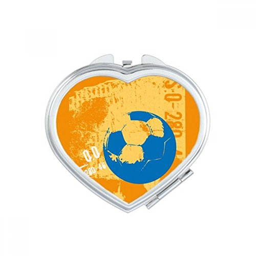 DIYthinker Football Soccer Sports US Heart Compact Makeup Pocket Mirror Portable Cute Small Hand Mirrors Gift by DIYthinker