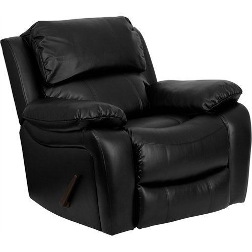 Black Contemporary Rocker Recliner (Flash Furniture Black Leather Rocker Recliner)