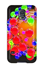 Protective Tpu Case With Fashion Design For Galaxy S5 (colored Balls)