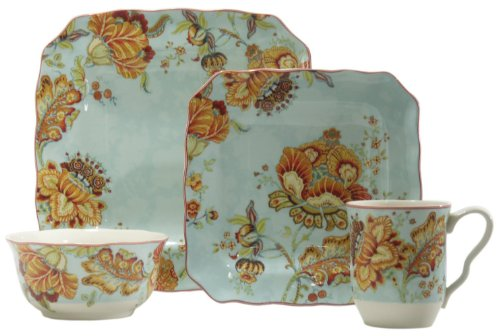 Gabrielle Spring Blue SQ 16pc Set - Pts Coffee