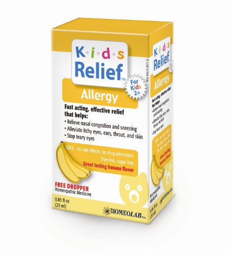 Kids Relief Allergy Oral Solution, .85-Ounce Bottle (Pack of 2)