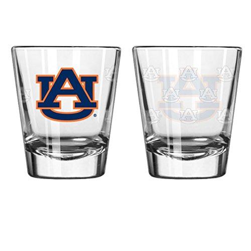Boelter Brand Auburn Tigers 2 Oz. Satin Etch Collectible Shot Glass (2 - Tigers Glass Auburn
