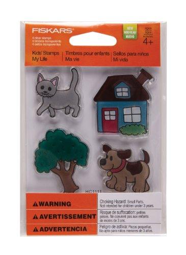Crazy Cat Dog (Fiskars 103170-1002 Kids Stamps, My Life)
