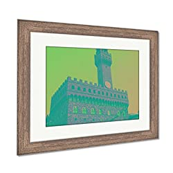 Ashley Framed Prints Florence Old Palace, Wall Art Home Decoration, Color, 34x40 (frame size), Rustic Barn Wood Frame, AG5586106