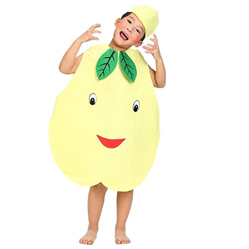 Kids Fruits Vegetables and Nature Costumes Suits Outfits Fancy Dress Party Boys and Girls (Pear)