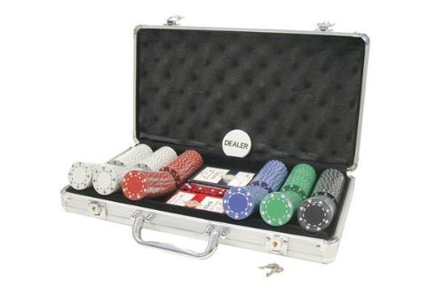 (Poker Set In Aluminum Case With 300 (11.5 Gram) Suited Style Chips (Renewed))