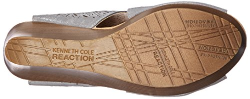 2 REACTION Safe Kenneth Sandal Wedge Womens Pewter Sole Cole 7OgqAcfqH