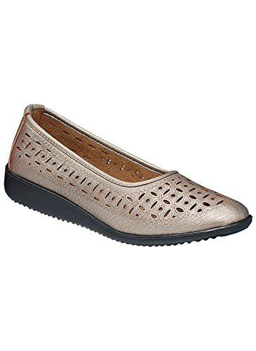 Carol Wright Gifts Casey Flat, Pewter, Size 7-1/2 (Extra Wide)