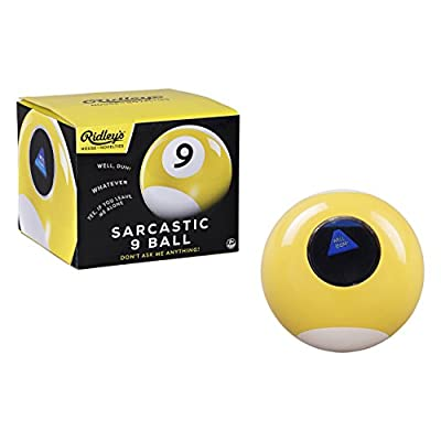 Ridley's Sarcastic Sassy 9 Fortune Teller Psychic Mystic Novelty Answer Ball: Toys & Games