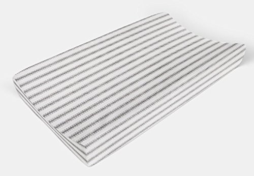 Changing Pad Cover in Gray Ticking Stripe by Twig + Bird - Handmade in America by Twig + Bird