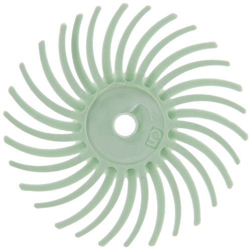 Scotch-Brite(TM) Radial Bristle Disc Thin Bristle, 35000 rpm, 3/4 Diameter, 1 Micron Grit, Light Green (Pack of -