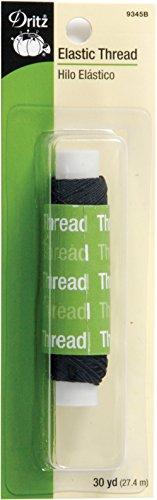 Dritz 9345B Elastic Sewing Thread, Black, 30-Yard