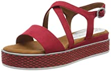 Marco Tozzi 2-2-28740-24, Sandalia con Pulsera para Mujer, Rojo (Red Comb 597), 37 EU