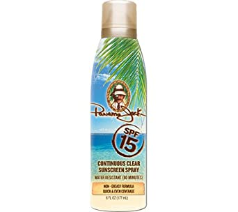 Panama Jack 4115 Continuous Clear Spray SPF 15 2 Bottles Sun Care