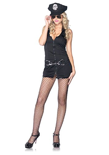 Womens Sexy Armed and Dangerous Police Officer Cop Adult Halloween Costume NEW (Cute Female Clown Costumes)