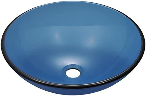 601 Aqua Coloured Glass Vessel Sink
