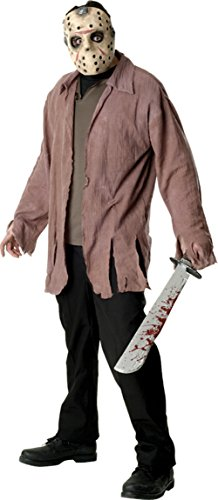 Rubies Mens Scary Jason Voorhees Theme Party Fancy Dress Costume, Standard (up to (Jason Voorhees Theme)