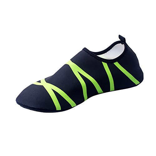 ESHOO ligero Barefoot agua piel zapatos para danza playa nadar Surf Yoga Ejercicio verde