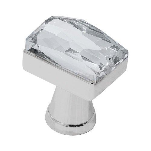 Sc Satin Chrome Crystal - DecoUnique Pull Knob With Swarovski Crystal, 1.2 inch, Satin Chrome, 781 SC C