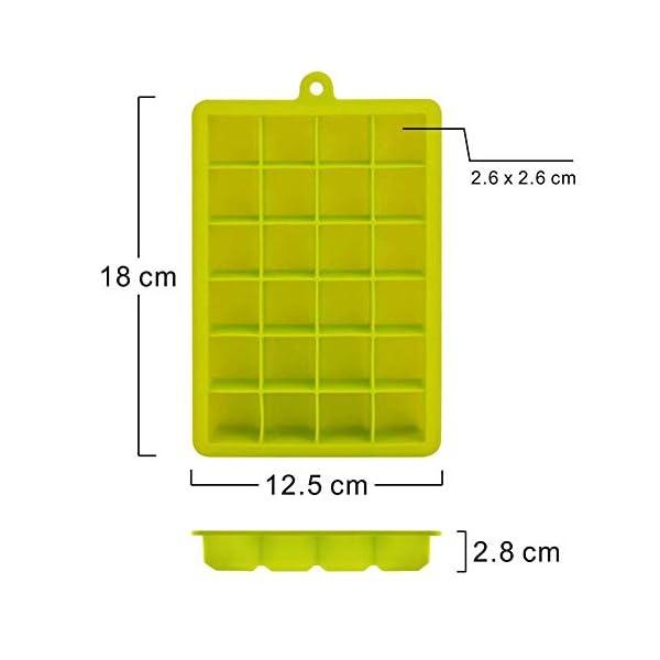 Depory Stampo Cubetti Ghiaccio in Silicone 24 Cubetti Vaschette Ghiaccio Cibo Congelatore Contenitore Ghiaccio Box… 3 spesavip