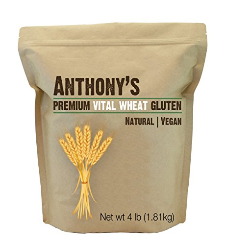 Vital Wheat Gluten by Anthony's (4 Pounds), High in Protein (4lb) High Gluten Bread Flour