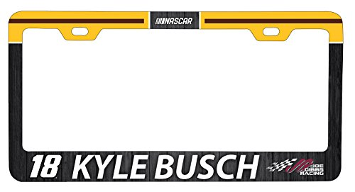 Kyle Busch #18 Metal License Plate Frame