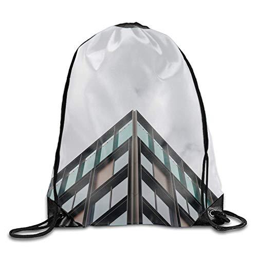 (Facade Building Sky Sheffield Men & Women Fashion Backpacks Shoulder Bag Laptop Backpack,sport Gym Sackpack Drawstring Backpack Bag)