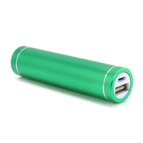 Best Selling BBtech Universal External Mini Lipstick Shape Battery Charger for iPhone Portable Power Bank for Mobile Cell Phones Travel Charger smart battery Charger USB 2600MaH (Green) ()