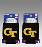SET OF 2 GEORGIA TECH YELLOW JACKETS CAN KADDY KOOZIES For Sale
