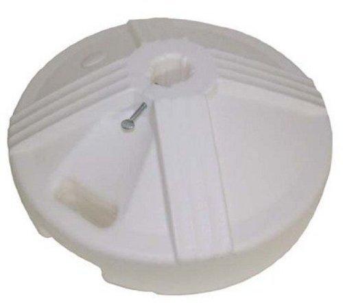 US Weight Fillable Umbrella Base, White (Patio Umbrella White Pole)
