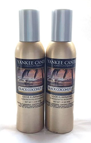 Yankee Candle Black Coconut Room Spray Set of 2 New Concentrated Room Perfume Sprays