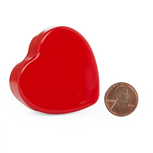 24ea - 3 X 2-1/2 X 1 Red Heart Shaped Tin Can-Pkg