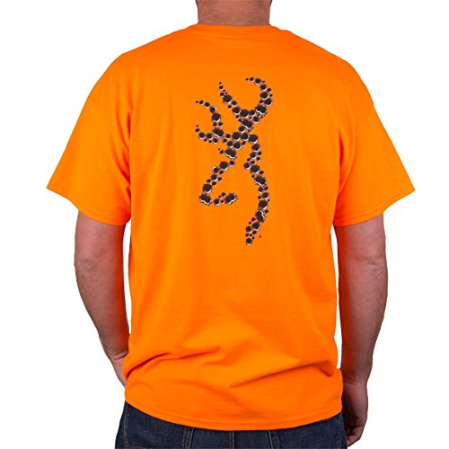 Browning Men's Bullet Holes Buckmark S/S Tee Shirt, Color Safety Orange, Size L