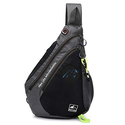 Sling Backpack Bag Travel Hiking Daypack for Men & Women Outdoor Cycling Hiking Travel Camping - Carolina Panthers (Carolina Panthers Embroidered Wallet)